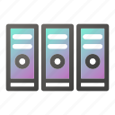 computer, connection, desktop, internet, network, server icon