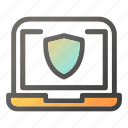 computer, desktop, laptop, protection, security icon