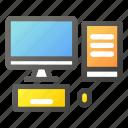 computer, desktop, hardware, laptop, monitor, mouse icon