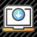 computer, desktop, download, hardware, laptop icon