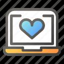computer, desktop, heart, laptop, monitor