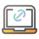 chain, computer, desktop, laptop, link, technology
