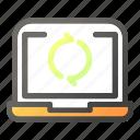 computer, desktop, laptop, monitorrecycle, refresh, sync
