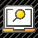 computer, desktop, find, laptop, search, zoom
