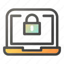 computer, desktop, laptop, monitor, protection, secure, security icon