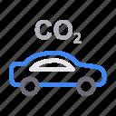automobile, car, co2, transport, vehicle icon