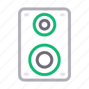 audio, loud, media, speaker, woofer icon