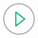 media, play, player, sign, video icon