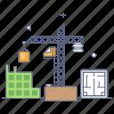 estate construction, building construction, building structure, building production, architecture icon