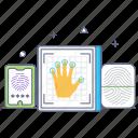 scanning, fingers scanning, biometric, smart fingers scanning, digital fingers scanning