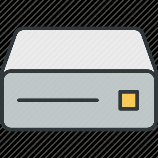 cd, disc, drive, dvd, rom, storage icon