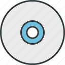 cd, disk, drive, music, player, rom icon