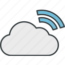 cloud, data, network, storage, transmission, wireless icon