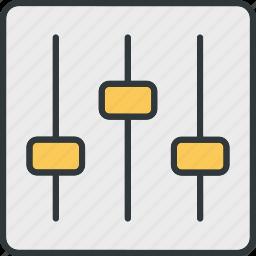 adjust, audio, console, control, push, rod icon