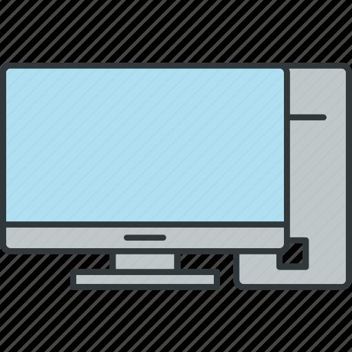 computer, desktop, device, installed, pc icon