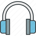 headset, music, sound icon