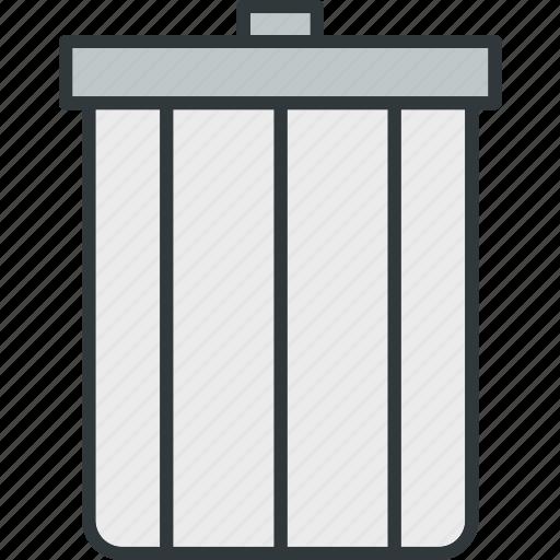 bin, can, delete, recycle, remove, trash icon