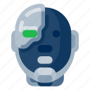 cyborg, future, gadget, internet, technology icon