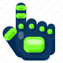 future, gadget, glove, internet, technology, tracking icon