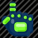 future, gadget, glove, internet, technology, tracking icon
