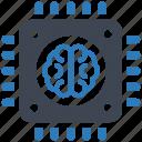brain, chip, memory icon