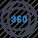 360, degree, view, vr icon