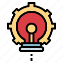 bulb, development, idea, light, technology icon