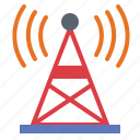 antenna, internet, radio, signal, wifi, wireless icon