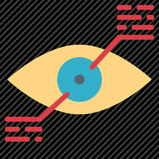 digital, eye, reality, technology, virtual icon