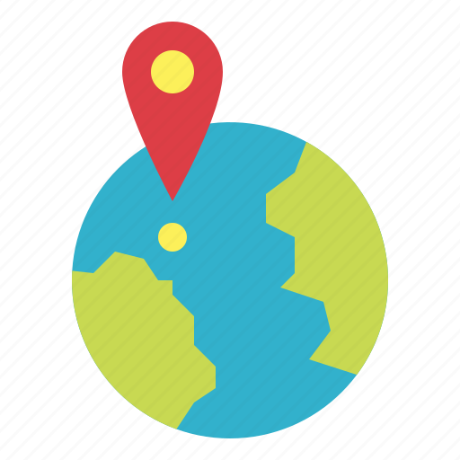 geography, global, location, map icon
