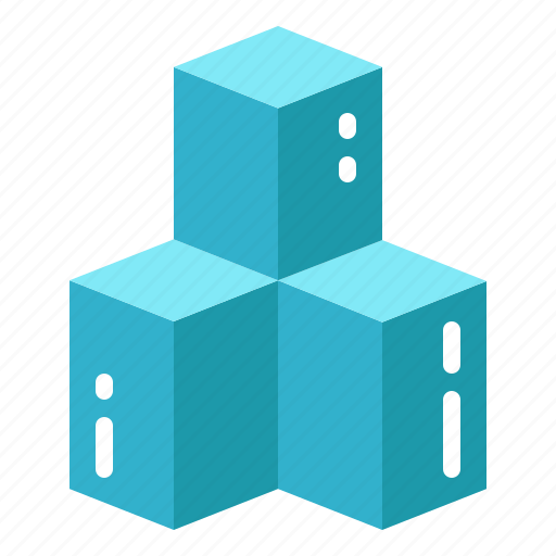 cubes, electronic, reality, technology, virtual icon