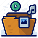 file, folder, image, media, multimedia, music, video