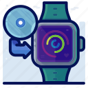 device, smartwatch, software, update, watch icon