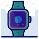 clock, device, smartwatch, time, watch icon