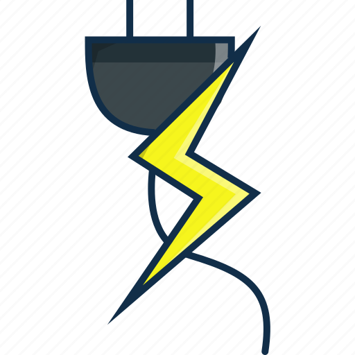 cable, electricity, house, technology, thunder icon