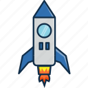 crew, nasa, rocket, ship, space, technology, universe icon