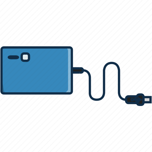 cable, communication, data, harddrive, information, technology icon