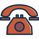 call, calling, communication, old, phone, ringing, technology icon