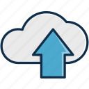 cloud, communication, data, download, server, technology, upload icon