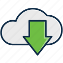 cloud, donwload, files, server, technology, upload icon