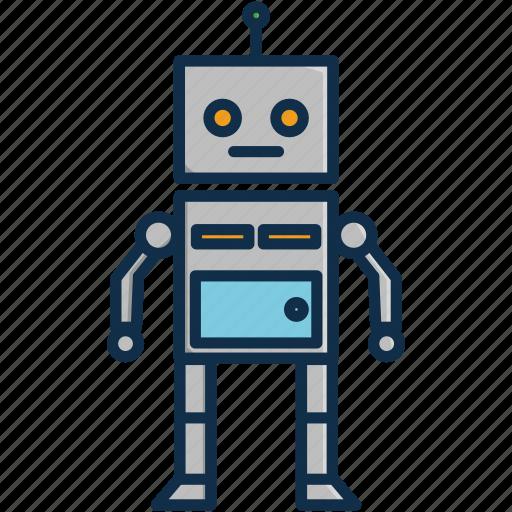 future, robot, technology icon