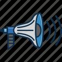communication, loudspeaker, sound, technology icon