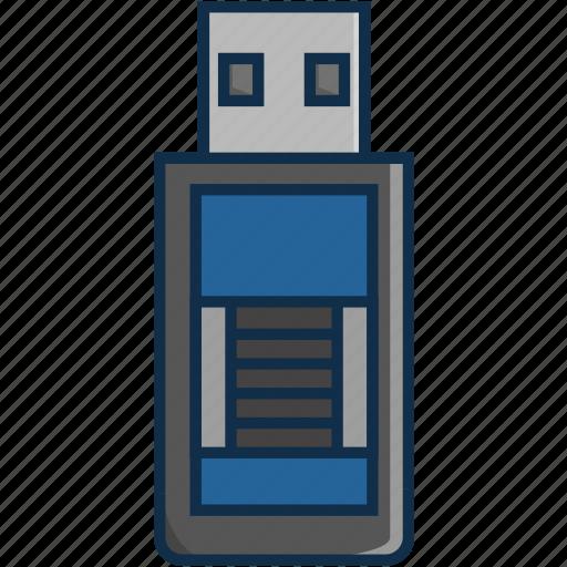 communication, data, information, pc, technology, usb icon