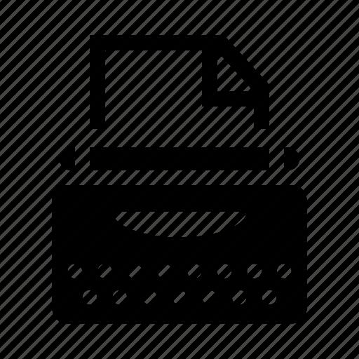 Type, typewriter, typing machine icon - Download on Iconfinder