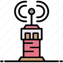 air, control, signal, tower, traffic icon