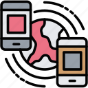 connection, link, mobile, network, phone icon