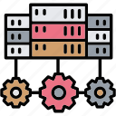 connection, database, device, server, system icon