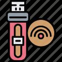 device, drive, signal, usb, wireless icon