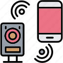 bluetooth, connection, device, signal, wireless icon