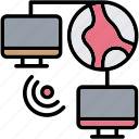 computer, connection, intranet, lan, network icon